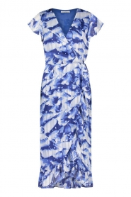 Freebird |  Midi dress with print Rosy | blue  | Picture 1