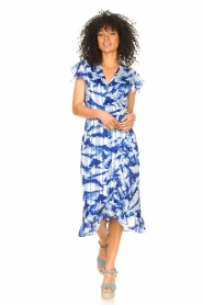 Freebird |  Midi dress with print Rosy | blue  | Picture 3