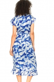 Freebird |  Midi dress with print Rosy | blue  | Picture 7