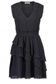 Freebird |  Cotton dress with Kyona | black  | Picture 1