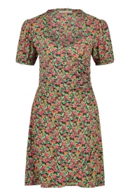 Freebird |  Dress with floral print Pimmy | green  | Picture 1