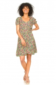Freebird |  Dress with floral print Pimmy | green  | Picture 3