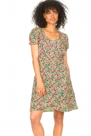 Freebird |  Dress with floral print Pimmy | green  | Picture 2