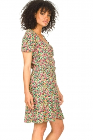 Freebird |  Dress with floral print Pimmy | green  | Picture 5