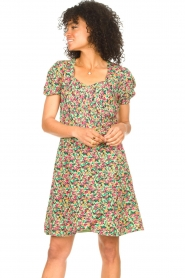 Freebird |  Dress with floral print Pimmy | green  | Picture 4