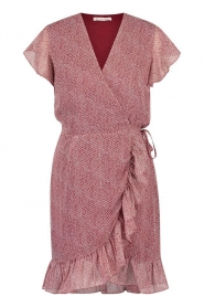 Freebird |  Wrapped dress with print Rosy | red  | Picture 1