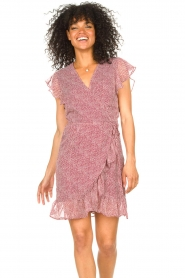 Freebird |  Wrapped dress with print Rosy | red  | Picture 7
