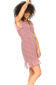 Freebird |  Wrapped dress with print Rosy | red  | Picture 4