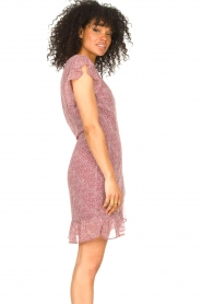 Freebird |  Wrapped dress with print Rosy | red  | Picture 5