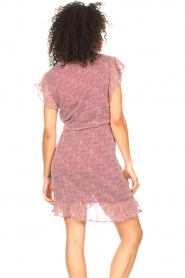 Freebird |  Wrapped dress with print Rosy | red  | Picture 6