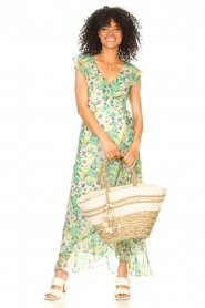 Freebird |  Maxi dress with floral print Olga | green  | Picture 3
