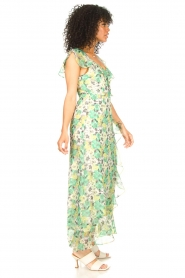 Freebird |  Maxi dress with floral print Olga | green  | Picture 5