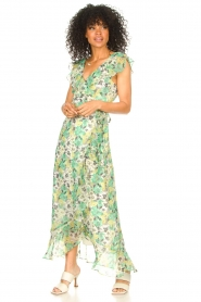 Freebird |  Maxi dress with floral print Olga | green  | Picture 4