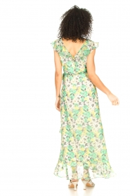 Freebird |  Maxi dress with floral print Olga | green  | Picture 6