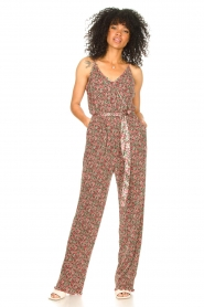 Freebird |  Jumpsuit with floral print Baily | pink  | Picture 3