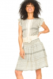Freebird |  Skirt with print Ymke | natural  | Picture 4