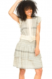 Freebird |  Skirt with print Ymke | natural  | Picture 2