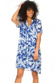 Freebird |  Dress with print Celeste | blue  | Picture 4