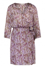 Freebird |  Dress with print Odette | purple  | Picture 1