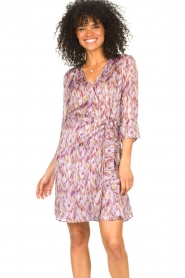 Freebird |  Dress with print Odette | purple  | Picture 5