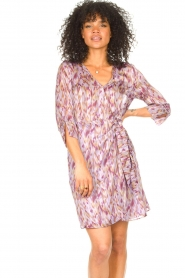 Freebird |  Dress with print Odette | purple  | Picture 4