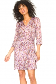 Freebird |  Dress with print Odette | purple  | Picture 2