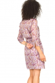 Freebird |  Dress with print Odette | purple  | Picture 7