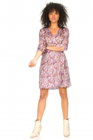 Freebird |  Dress with print Odette | purple  | Picture 3