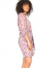 Freebird |  Dress with print Odette | purple  | Picture 6