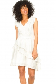 Freebird |  Cotton dress with Kyona | off white  | Picture 2