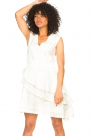 Freebird |  Cotton dress with Kyona | off white  | Picture 5
