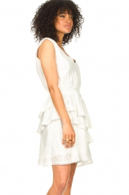 Freebird |  Cotton dress with Kyona | off white  | Picture 6