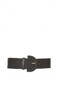 Little Soho |  Wicker belt Olly | black  | Picture 1