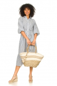 Little Soho |  Wicker bag with lace Kate | natural  | Picture 3