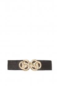 Little Soho |  Belt with golden fastening Lois | black  | Picture 1