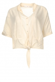 Aaiko   Transparante blouse Tanissa   naturel    Afbeelding 1