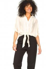 Aaiko   Transparante blouse Tanissa   naturel    Afbeelding 4