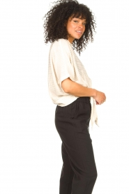 Aaiko   Transparante blouse Tanissa   naturel    Afbeelding 6