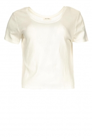 American Vintage |  Short cotton sweater Gabyshoo | white  | Picture 1