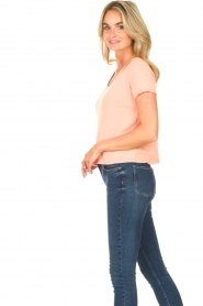 American Vintage |  Short cotton sweater Gabyshoo | pink  | Picture 4