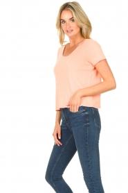American Vintage |  Short cotton sweater Gabyshoo | pink  | Picture 5