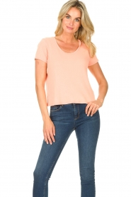 American Vintage |  Short cotton sweater Gabyshoo | pink  | Picture 2