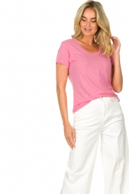 American Vintage |  Basic T-shirt with round neck Jacksonville | pink  | Picture 4