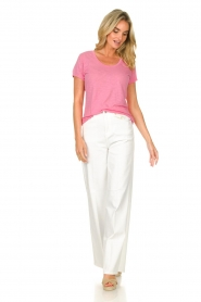 American Vintage |  Basic T-shirt with round neck Jacksonville | pink  | Picture 3