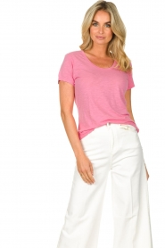 American Vintage |  Basic T-shirt with round neck Jacksonville | pink  | Picture 2