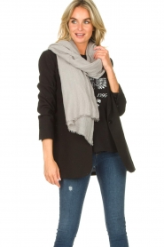 American Vintage |  Soft scarf Fati | light grey  | Picture 2