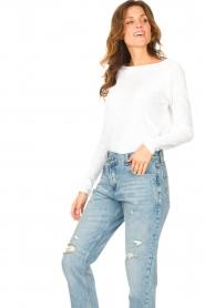 American Vintage |  Basic cotton T-shirt Sonoma | white  | Picture 4