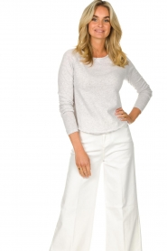 American Vintage |  Basic cotton T-shirt Sonoma | light grey  | Picture 4