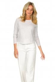 American Vintage |  Basic cotton T-shirt Sonoma | light grey  | Picture 2