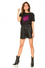 Silvian Heach |  T-shirt with sequins Tandar | black  | Picture 3